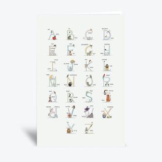 Alphabet  Greetings Card