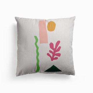 Cut Out Basic Desert Canvas Cushion