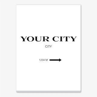 Your City Sign Portrait Personalised Canvas Print