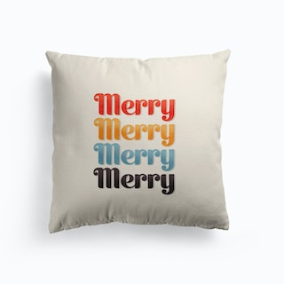 Merry Typography Cushion