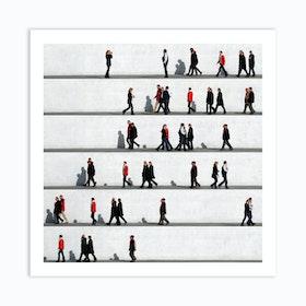 Wall People Detail 5 Art Print
