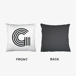 Black Letter G Cushion