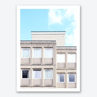 Grey Symmetry Of Edinburgh Art Print