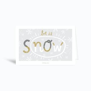 Snow Greetings Card