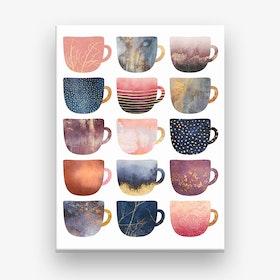 Pretty Coffee Cups Canvas Print