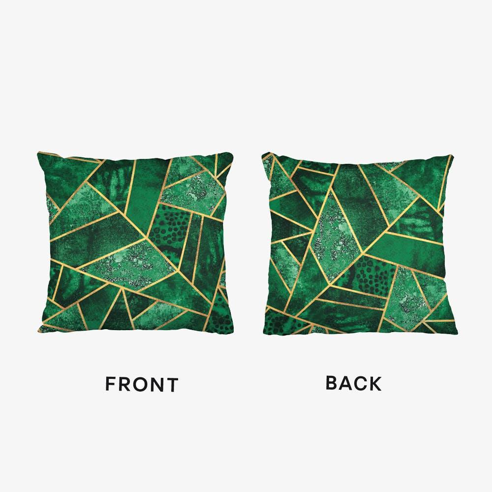 Deep Emerald Cushion