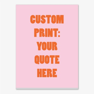 Pink and Red Personalised Canvas Print