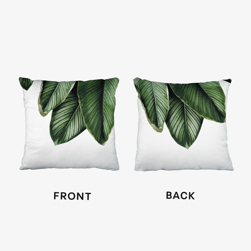 Green Palm Leaves Cushion