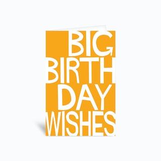 Big Bday Greetings Card